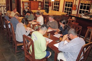 March 2012 Birding Group working on list