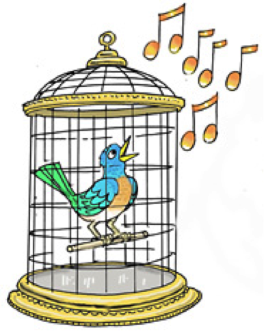 Caged Bird Graphic
